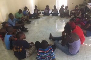 Séance d'animation avec les jeunes du CAEJ - Haïti