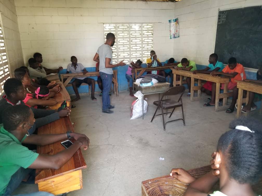 Atelier avec les jeunes